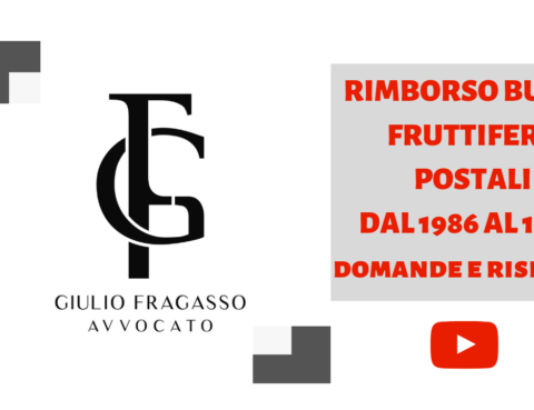 rimborso buoni fruttiferi postali avv giulio fragasso